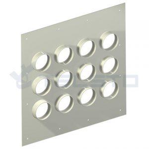 Placa de entrada para cabos de alumínio 12