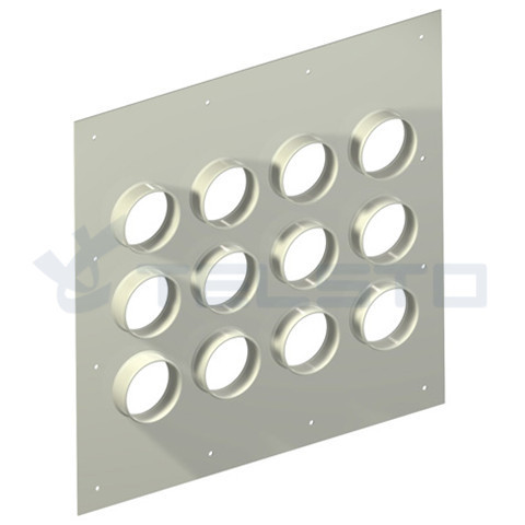 Aluminum 12 holes cable entry plate
