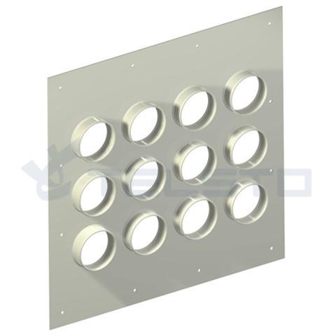 Алюминиевая прокладка для ввода отверстий 12