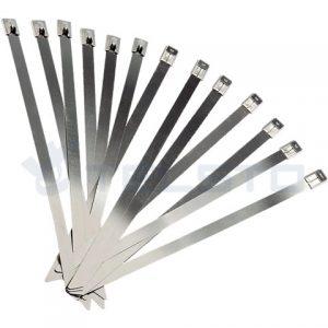China Fabricante de PVC Revestido de Aço Inoxidável Cable Ties Pack De 100