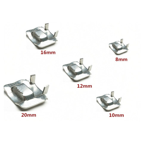 SS 304 Ear Lock Stainless Steel Buckle for Banding Strap