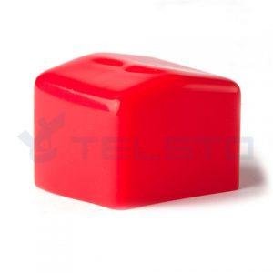 """RED Vinyl uni end cap کلاه سفید لاستیک برای Unistruth 1-5 / 8 """"x 1-5 / 8"""""""