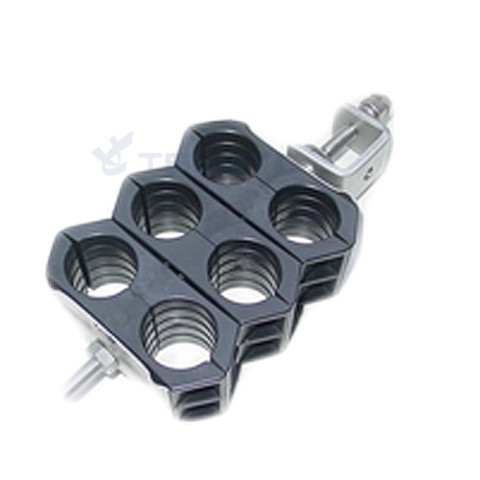 Двухсторонняя вешалка / 6 запускает зажимные зажимы для коаксиального кабеля 7 / 8