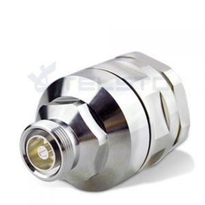 "7 / 16 Din female jack rf connector for 1-5 / 8 ""کابل فیدر"