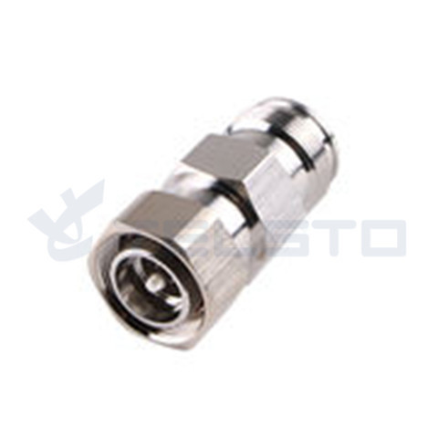 Coaxial screw adapter 4.3-10 male to 4.3-10 female