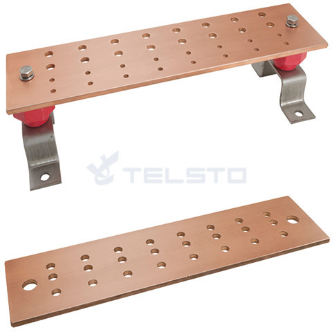 Kit de barra de terra de cobre para telecomunicações