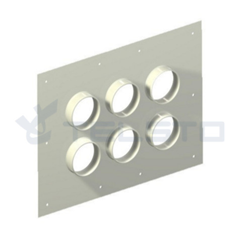 Feed-thru entry panels cable entry plate