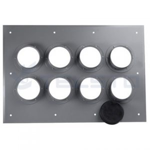 feeder cable wall entry plate