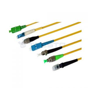 SC/APC to SC Fiber Optic Patch Cable – 1M / 3.28ft – Single Mode – SIMPLEX – Commercial QUALITY