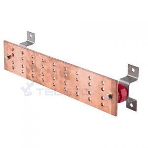 Ground busbar, bus bar connectors, grounding bus bar