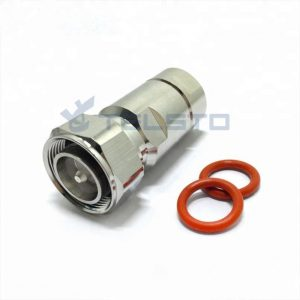 """mini din 4.3/10 male plug connector clamp for 1/2"""" coaxial cable RF connector"""