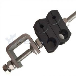 Two Holes Type RF Feeder Cable Clamps for RRU Fiber Optic Cable and DC