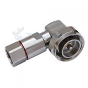RF Coax Connector DIN Male Right Angle connector for 1/2'' flexible RF cable